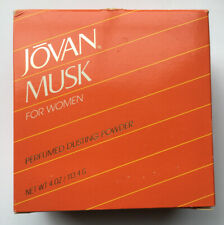 Jovan Musk for Women Perfumed Dusting Powder 4.0 oz  with puff