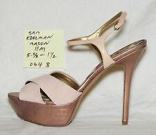 """size 11 m Sam Edelman MASON blush suede / copper sandal 5-5/8"""" heel - 064b"""