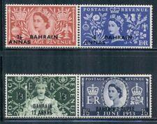 "BAHRAIN 92-95 SG90-93 MH 1953 QEII Coronation set ovpt ""BAHRAIN"" Cat$15"