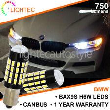 2x BMW BAX9S H6W 433 LED CANBUS 54 SMD Cree Blanco Brillante Drl Bombillas De Luz Lateral