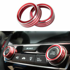 Red AC Air Condition Control Switch Cover Ring Fit For Honda Civic 2016 2017