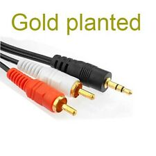 gold 3.5mm To 2RCA Audio Y Adaptor Cable Lead For Archos Android Tablet eReader