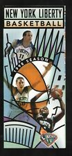 Teresa Witherspoon & Rebecca Lobo-New York Liberty-1998 Ticket Brochure/Schedule