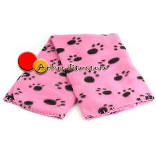 Coperta Pile Design Zampine per Cani Gatti Animali Tg.S 60x70cm Rosa Comodo