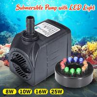 1800LPh Aquarium Pump Submersible Water Fish Aquarium Tank Fountain Pond Marine