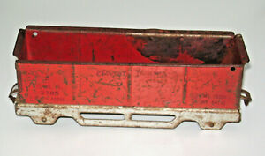 Antique Metal Pressed Steel Pennsylvania Gondola Train Car Wood Wheels