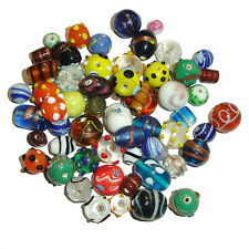 20 pcs Fancy Assorted Mixed Lampwork Spacer Glass Beads Loose Crafts Necklace EU