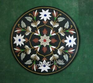 30 x 30 Inches Modern Coffee Table Top Heritage Art Marble Inlay Patio Table