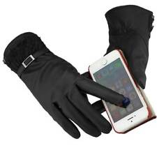 Leather Thermal Touch Screen Women Lady Driving Gloves for Phone/ipad Black Lace