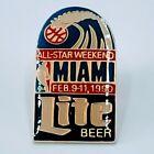 90's Miller Lite Pin  February 9-11 1990 Miami NBA Basketball All Star Weekend