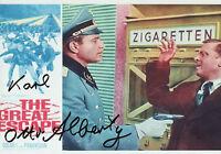 KARL-OTTO ALBERTY Signed In Person 12x8 Photo THE GREAT ESCAPE COA