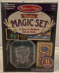 Melissa & Doug Discovery Magic Set of 4 Classic Tricks Solid-Wood Magic Show New