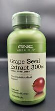 New GNC Herbal Plus Grape Seed Extract 300 mg 100ct - Exp 08/22