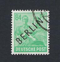 BERLIN 1948 BLACK OVERPRINT 84p GREEN Nº 16 USED