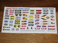 1/10 - 1/8 scale DECAL/STICKER SHEET -RC/MODEL CAR-Tamiya/hpi/decals/kit/TC3/TC4
