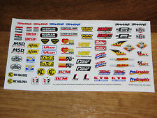 1/10 - 1/8 scale DECAL/STICKER SHEET -RC/MODEL CAR-Tamiya/hpi/decals/kit/TC3/TC4