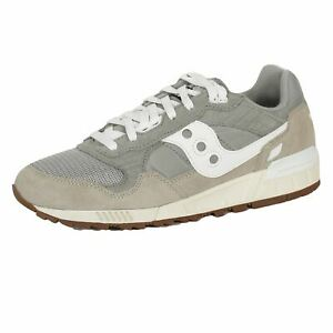 SAUCONY SHADOW 5000 MENS GREY WHITE TRAINERS