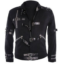Michael Jackson MJ  BAD Black Jacket glove Outerwear Skinny Punk Collection