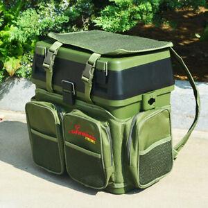 Nylon Seat Box Fishing Backpack Camping Tackle Bag Seat Box Harness Converter
