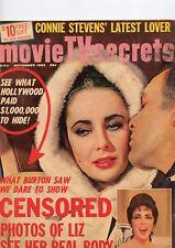 Movie TV Secrets Nov 1963 Connie Stevens, Liz, Tony Curtis See My Store