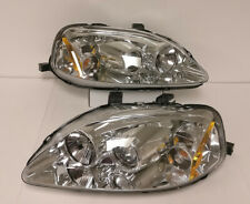 Chrome Housing Amber Reflector Clear Lens Projector Headlights For 99 00 Civic