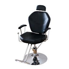 Hydraulic Reclining Barber Chair Salon Beauty Shampoo Styling Equipment Black