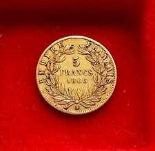 Belle 5 Francs OR Napoléon III 1866 BB