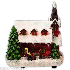 Noël Village Allumer classique lumières artificielles décoration de l'église