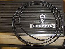 MULINELLO a bobina Player Cinghia per Grundig TK22 TK23 Lettore Nastro - 3 cinture