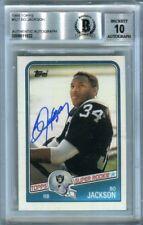 Bo Jackson 1988 Topps Football Autograph Auto Rookie Card #327 - BAS 10