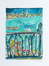 Bob Dylan Vista From a Balcony Signed Giclee Etching - Contemporary Art