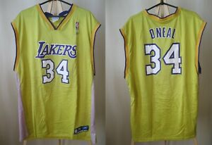 Los Angeles Lakers #34 O'Neal Size XXL Reebok jersey shirt Basketball 2XL