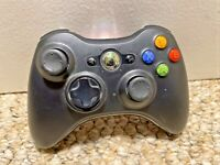 GENUINE OEM Microsoft XBOX 360 Wireless Controller Gamepad in Black rechargeable