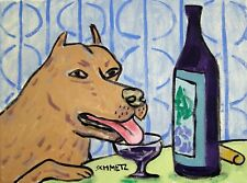 Pit Bull terrier wine 8.5x11 glossy photo Print gift Jschmetz modern