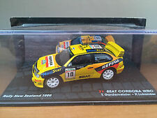 "DIE CAST "" SEAT CORDOBA WRC RALLY NEW ZELAND 1999 "" PASSION RALLY SCALE 1/43"