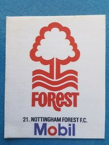 Mobil Football Club Badges Silk 1983 Nottingham Forest