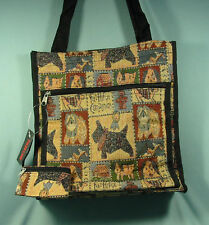 Dog Print Tote bag Handbag  with change purse 11.5 by 12 by 4.25 inches NWT