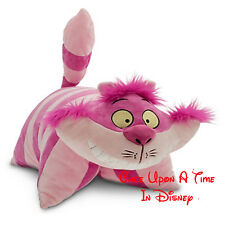 Disney Parks RARE CHESHIRE Cat Pillow Pet Plush Collectible NEW With All Tags!