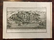 ANTICA STAMPA CAGLIARI Capitale del Regno di SARDEGNA SALMON 1762 CVGL3/19