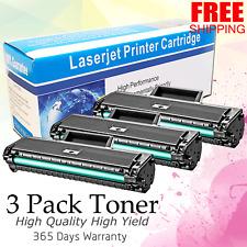 3 Pack ML1665 Toner Cartridge fits Samsung ML-1665 ML-1865W ML-1661 SCX-3206