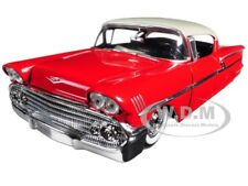 "1958 CHEVROLET IMPALA RED ""SHOWROOM FLOOR"" 1/24 DIECAST MODEL CAR JADA 98896"