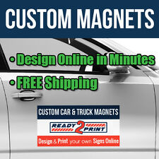 12 x 18 Custom Car Magnets - Magnetic Signs for Autos, Trucks & Vans (Qty 2)
