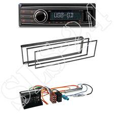 Caliber RMD212 Radio + Citroen C2/C3 1-DIN Blende schwarz + ISO-Adapter Set