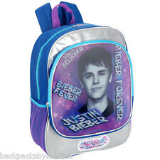 Justin BIEBER Fever, Peace & LOVE 3-D Backpack NeW Full Size Book Bag + 1 FOLDER