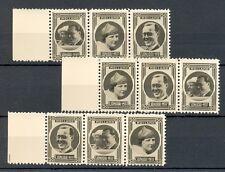 NEDERLAND 1937 ca  9 x  FOTO STAMPS  JULIANA BERNARD   THICK PAPER  PRACHT