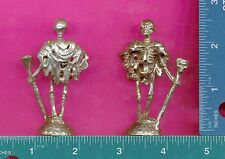 3 wholesale lead free pewter skeleton king figurines H8053