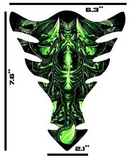 Green Scorpion Motorcycle Gel tank pad tankpad protector Tank Guard Universal