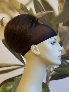 "MEDIUM  BROWN "" BEEHIVE "" BUN HAIR PIECE UPDO EXTENSION #12 UK SELLER"