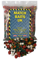 Bag 450g Mixed 2,4,6,8,10mm Flavoured, Coloured Feed Pellets Carp Fishing Baits