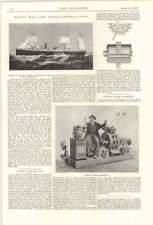 1899 Pacific Mail Line Paddle Steamer China Electric Mining Locomotive Oerlikon